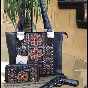 Western American bling concealcarry handbag&wallet